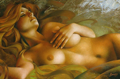 CHOP223 hand-painted modern Dream Nude girl art oil painting decor art on canvas