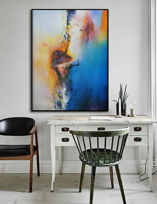 CHOP747 100% hand paint modern charmed abstract oil painting home art on canvas