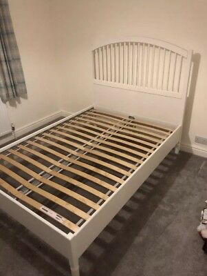Tyssedal Ikea Double Bed Frame White 65 00 Picclick Uk