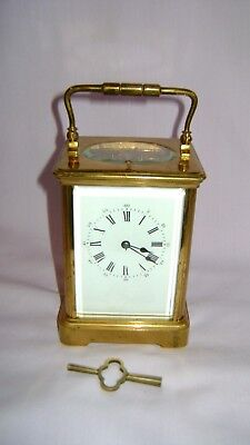 French Repeater Carriage Clock In Good Working Order With Original Carrying Case