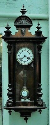 Antique Reinhold Schnekenburger Rsm Vienna Regulator German Wall Clock C1870 Af
