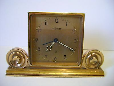 Vintage Lecoultre 2 Day Desk / Alarm Clock  In Good Working Order