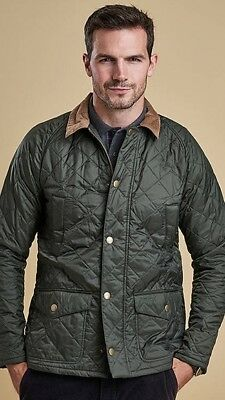 Mens Barbour Quilted Jacket CANTERDALE Olive Green Mens Size Large BNWT RRP £129