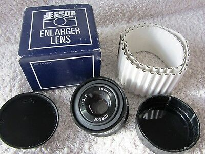 JESSOP ENLARGER LENS F3.5 50mm BOXED WITH BOTH CAPS