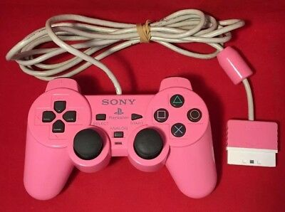 Official Sony PlayStation 2 / PS2 Pink DualShock 2 Analog Controller - TESTED