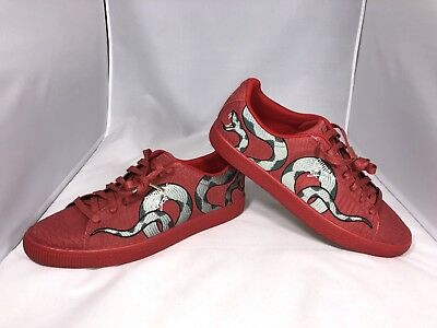 66ba8fa5b03c New Puma Clyde Snake Size 13 Embroidery Pack Red Skin Gold Aglet 368111-02
