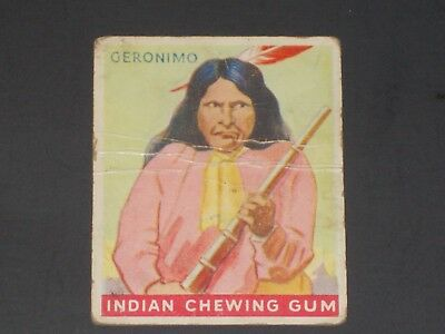 Indian Gum, Goudey (R73), #25 Series of 48, VERY TOUGH SERIES!!!  GERONIMO!!!