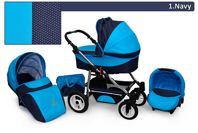 Baby Pram 3in1 Stroller Active Pushchair Car Seat Carrycot Travel System Buggy