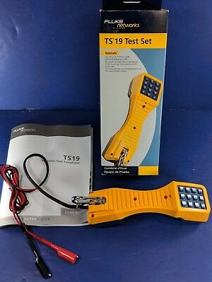New Fluke TS19 Test Set, Original Box, Banana Jack/Alligator Clips