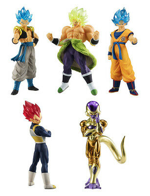 Bandai Dragon Ball Z Super Movie HG Figure 01 Full set of 5 Goku Vegeta Broly