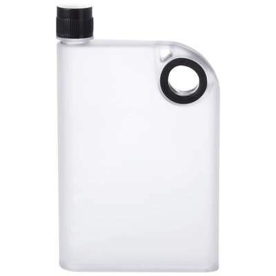 12oz Clear FLASK Lightweight +Handle Hip Pocket Screw Cap Liquor Alcohol Whiskey
