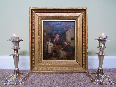 CIRCLE OF 'Sir David Wilkie' RA LISTED (1785-1841) FINE GEORGIAN OIL PAINTING
