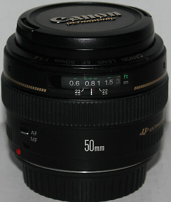Canon EF 50mm f/1.4 Japan made, ring USM, metal mount, fits all EOS SLRs