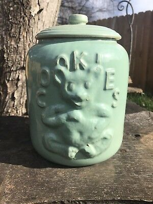 Vintage Rare Light Blue McCoy Bear Cookie Jar