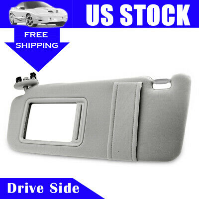 Sun Visor sunshade for 2007-2011 Toyota Camry Drivers Side WithOut Sunroof Gray
