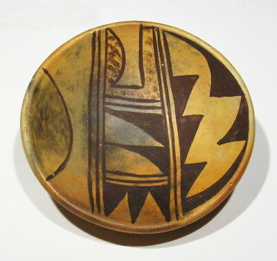 Rare Old Antique 1920s Hopi Indian Hand Made Painted Nampeyo Pottery Bowl