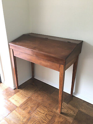Small Antique Primative?  Slant Top Desk Console Table - wood