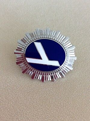 """Eastern Airlines Vintage Hat Badge """" The Wings Of Man"""" Logo Circa 1950's"""