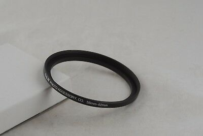 New 58mm to 62mm Metal Step-up Ring 58mm-62mm, 58-62