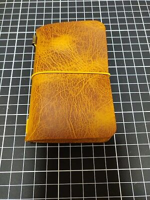 Moleskine cover - Midori - Leather notebook Yellow - Xs - Volant - Carnet cuir