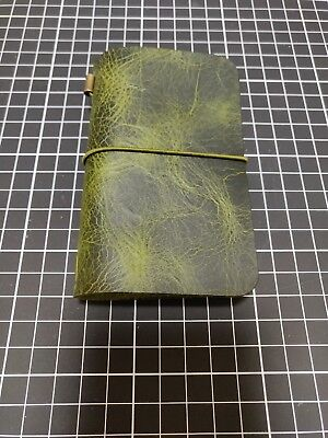 Moleskine cover - Midori - Leather notebook Olive - Xs - Volant - Carnet cuir