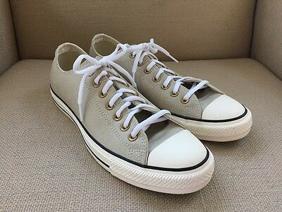 Converse All Star Beige Leather/suede Sneakers Mens Size 9 Womens Size 11 New Wi