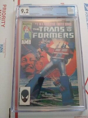 Transformers (Marvel) 1st Printing #1 1984 CGC 9.2 NM White Pages