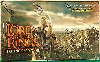 The Lord Of The Rings Realms Of The Elf-Lords Booster Box--Factory Sealed
