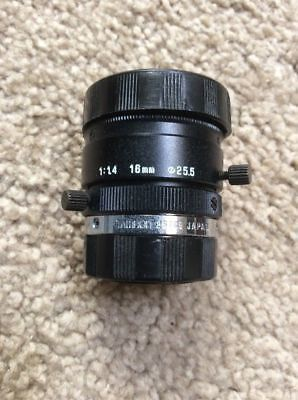 CCDWorld C-Mount Pre-Owned Computar 55mm 1:1.4 Telecentric Fixed Focus Lens