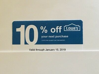 1 Lowe's Blue Card 10% Off For Home Depot + Other Comp Not Lowe's  Exp 06/15/19