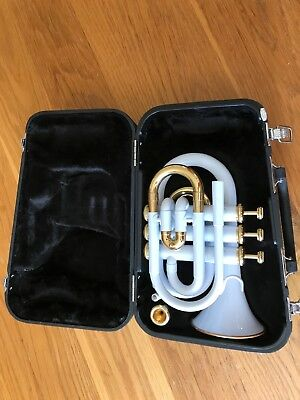 Jupiter White - Jpt 416 Brass Trumpet With Case And Mouth Piece
