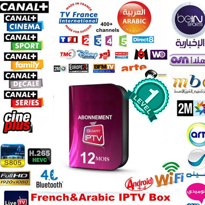 SMART IPTV.ABONNEMENT.12MOIS.9000 channes.fullhd/vod.android.mag.m3u.amazon
