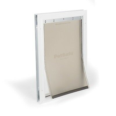 PetSafe Freedom Aluminum Pet Door for Dogs and Cats, Medium, White, Tinted Vinyl
