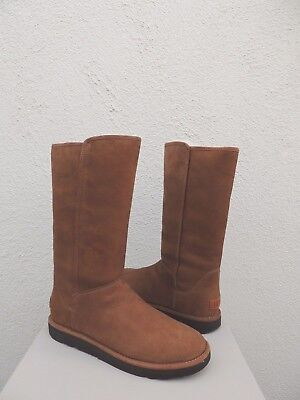 34414b21580 UGG ABREE ITALIAN Collection Tall Bruno Suede Shearling Boots Size ...