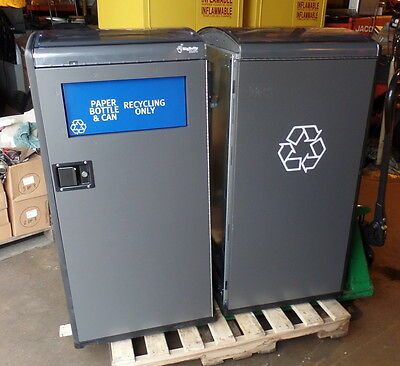 Trash Waste Recycling Station Container Bin BigBelly - Six each - Sold as Parts