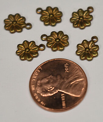 RAT6636//1R Small Raw Brass Rose Charms 6
