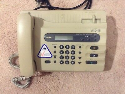 sanyo fax machine SFX-10 facsimile transceiver vintage old school good condition