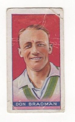 Amalgamated Press - Cricket Card - Don Bradman