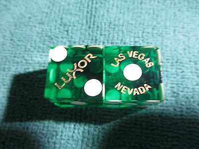 Green Luxor Las Vegas Casino Dice No Matching#'s (Rare)