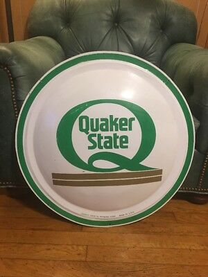 Quaker State Advertising Bubble Button Sign Gas And Oil