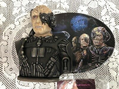 """Star Trek First Contact Hamilton Collection """"The Collective"""" Sculptural 3D Plate"""