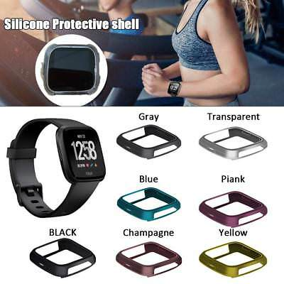 For Fitbit Versa Smart Watch Silicone Protective Shell Case Cover Frame Shield