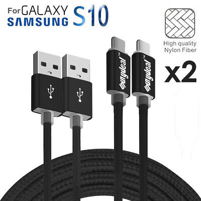 2 PACK USB Type C 3.1 Fast Charge Data Sync Charger Cable Samsung Galaxy S8 S9