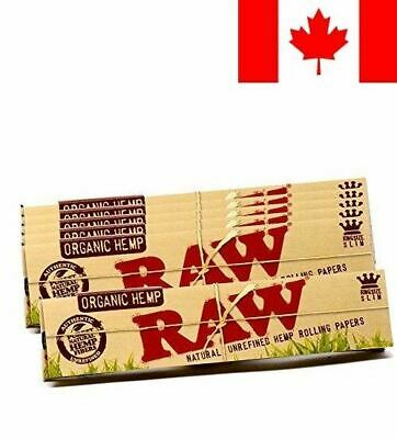 RAW Organic Hemp Natural Unrefined Rolling Paper - King Size Slim 110mm Size ...