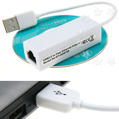 USB 2.0 To RJ45 LAN Ethernet Network Adapter Dongle for MacBook 10/100Mbps