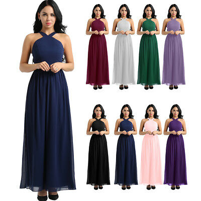 3e14e95263ee Women Formal Wedding Bridesmaid Long Dress Evening Party Prom Ball Gown  Cocktail