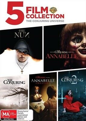 The Conjuring Universe The Conjuring 1+2 the Nun, Annabelle (DVD 2018) Brand New