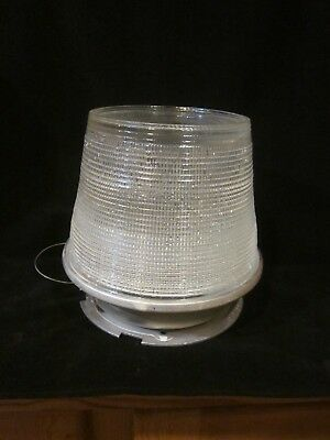 Vintage Holophane Half Globe Street Light Steam Punk Shade Industrial Bee Hive