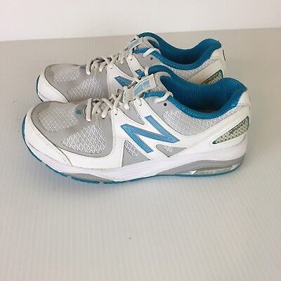 New Balance 1540 V2 Athletic Shoes Womens Size 8.5 Lace Up White Teal USA 07c3fbfc9