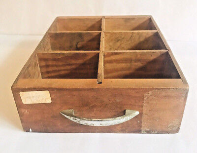 Drawer Wooden Box Primitive Country Rustic Farmhouse Home Decor Vintage